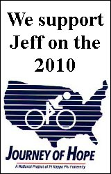 We support Jeff on the 2010 Journey of Hope